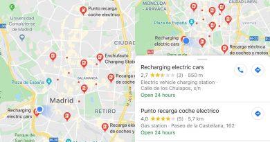 google maps recarga de coches electrico