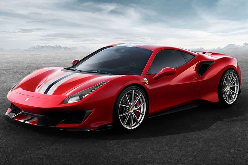 coches de lujo más vendidos: Ferrari 488 Pista
