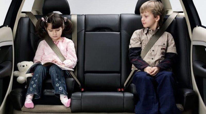 El cinturón de seguridad en niños