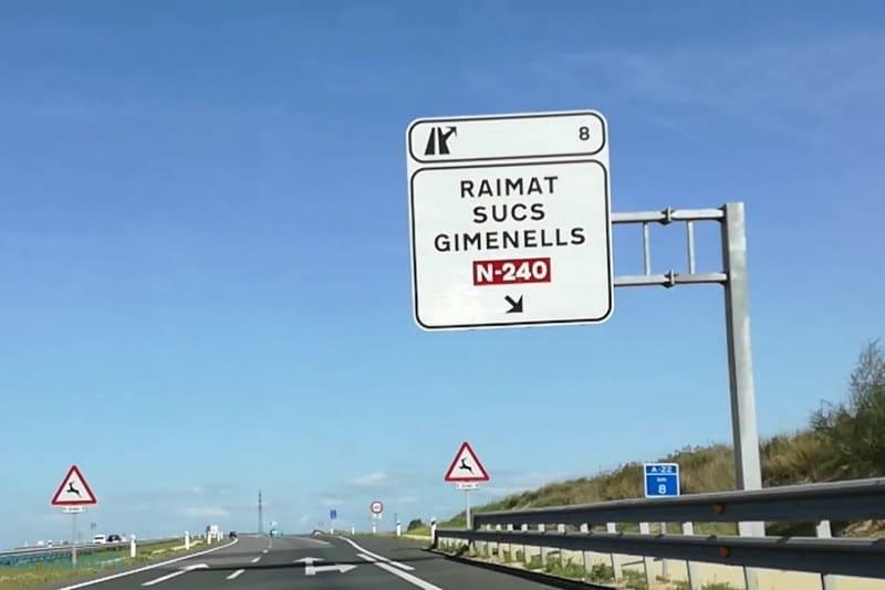 nombres de las carreteras