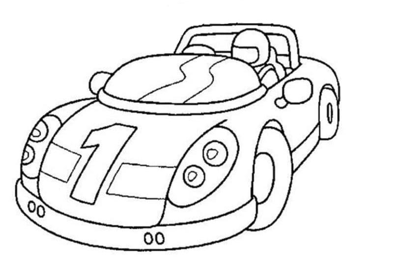 Dibujos de coches para colorear para niños