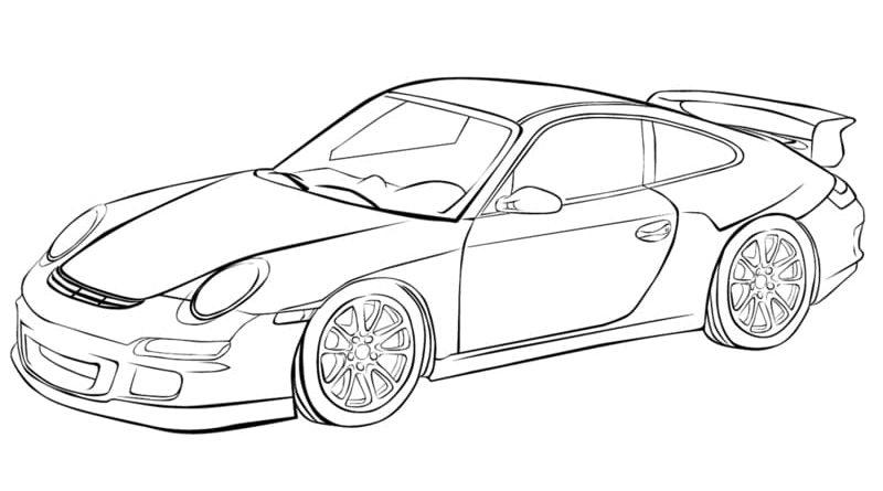 Dibujos de coches Porsche