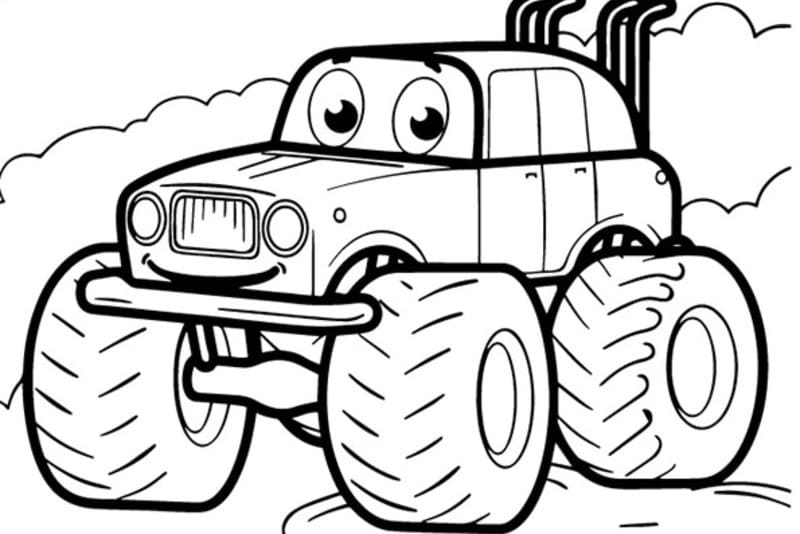 Dibujos de coches para colorear