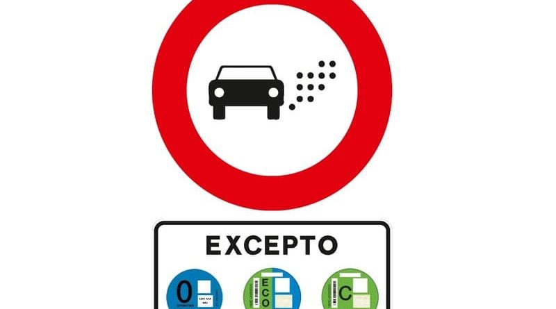 señal zona bajas emisiones